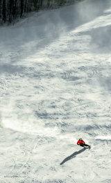Ski Patrol's last run of the day