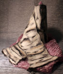 Cream nuno felt scarf