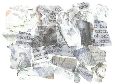 Paper skin <br> [solvent transfer monoprint 2008]