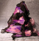 nuno felt scarf in pinks and purples