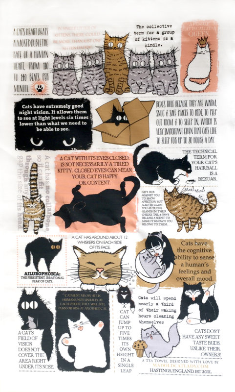 Cat Fact Tea towel