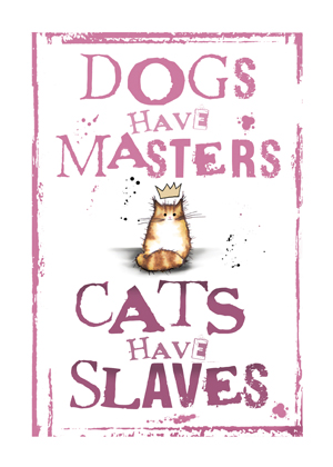 Cats have Slaves (Tabby and white)