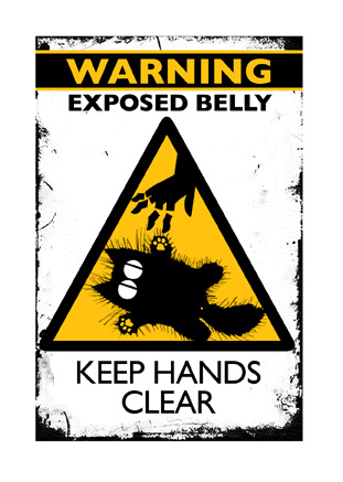 WARNING: EXPOSED BELLY