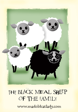 Black Metal Sheep