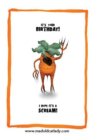 Mandrake birthday card