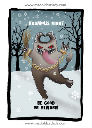 Krampus Night card