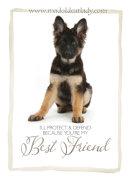 Best Friend German Shepherd Card