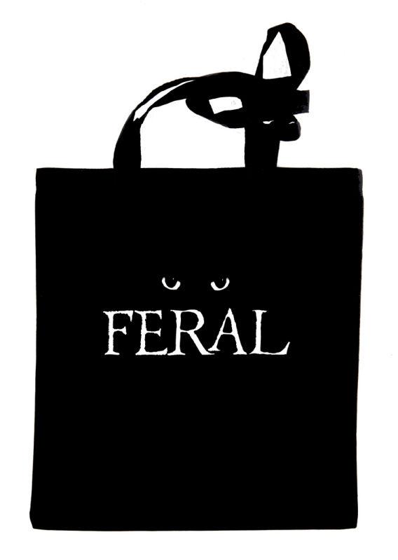 FERAL black tote bag
