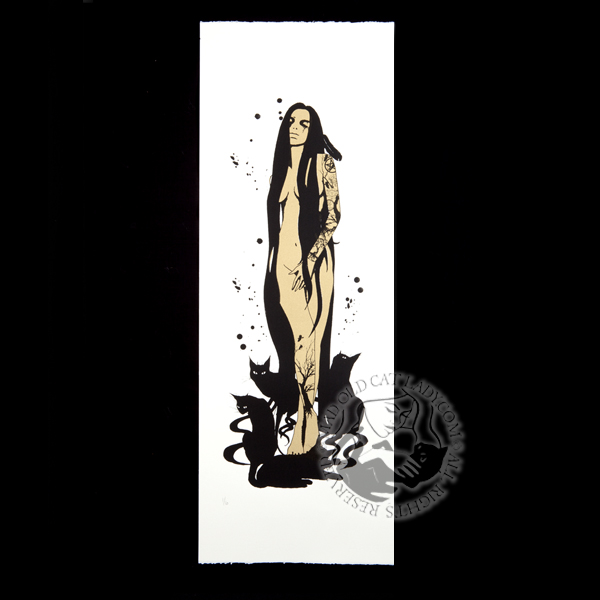 Four Familiars gold limited edition of 6 (210x570mm)