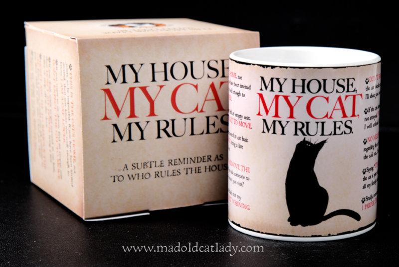 My Cat , My House , My rules ceramic mug