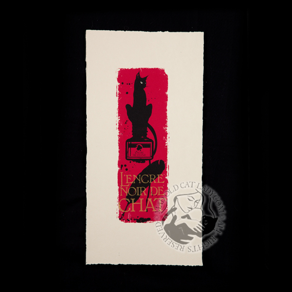 Le chat rouge petit limited edition of 30 (85x255mm)