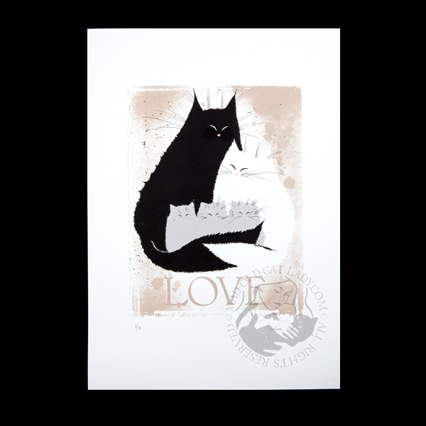 Love cats limited edition of 30 (290x380mm)