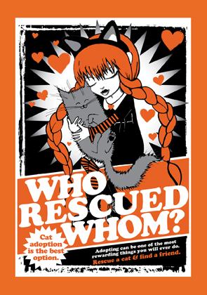 Who Rescued Whom card? (orange)