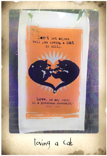 Love cats tea towel