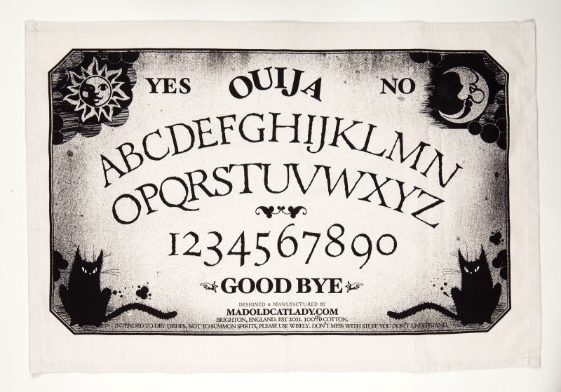 Ouija Board tea-towel