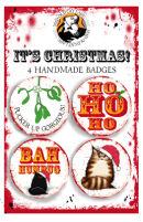 Brown tabby badge set