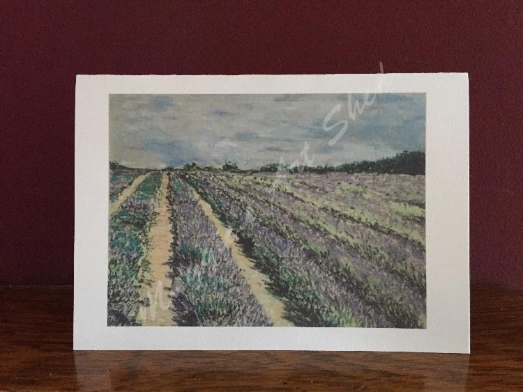 Lavender Field Card