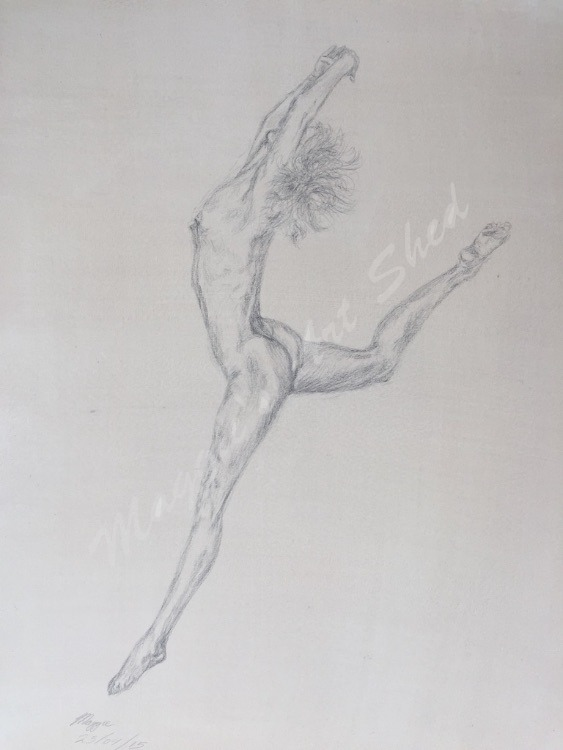 Leaping Nude