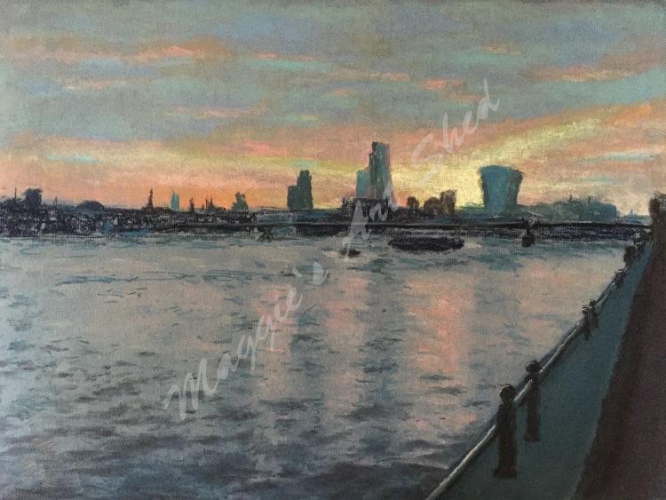 Spring Sunrise Over Thames