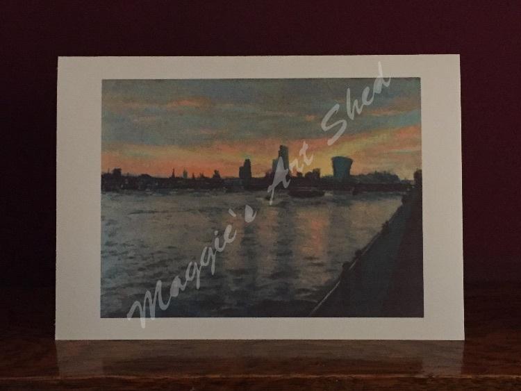 Spring Sunrise Over Thames Card