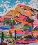 Semi Abstract Landscape in Collage