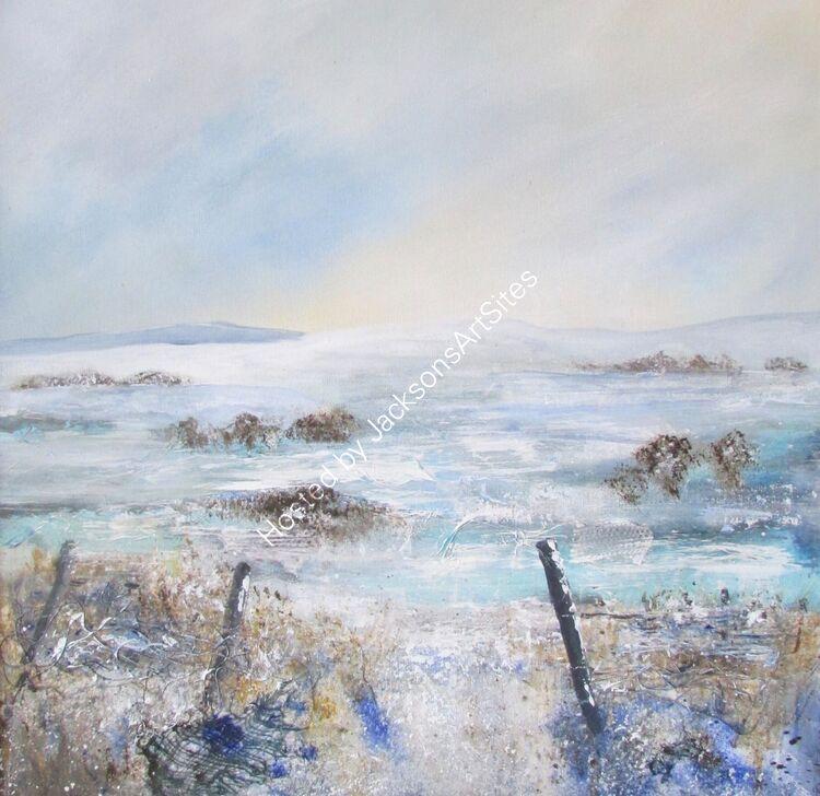 Winter fields painting