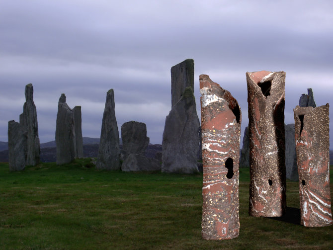 the Gossips inspired by Callanais Stones, Hebrides.