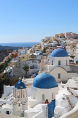 Famous Blue domes at Oia, Santorini