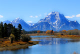 Teton Mountains and Snake River from Oxbow Bend