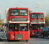 Incongruous London buses in Skopje !