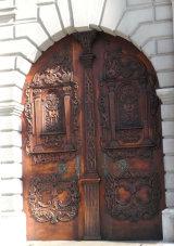 Ornate door, Bratislava, Slovakia