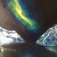 Northern Lights With Fishing Boat
