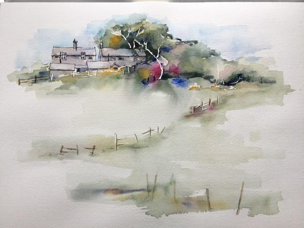 Northumberland Farm. Watercolour. 45x55cms Framed. £90