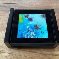 'Spring Time' Set of Four Glass Coasters, by Julia Chandler
