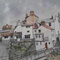 Staithes  Cottages, by Derek Robinson