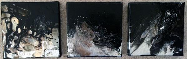 Abstract_2  Mixed Media, 20 X 20 cm ea, £73 (Set of 3)