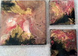 Abstract Mixed Media £110 Set of Three (20x20cm and 35x35cm)