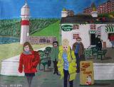 Tea on the island, acrylic on canvas paper, 36x27cm