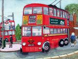 Trolley Days, 23.5 x 18.5cm