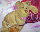 Horace Bear, Watercolour, £30