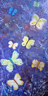 "Butterfly dreams, Acrylics, 10x20"", box canvas, SOLD"