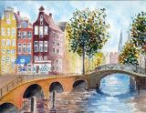Amsterdam,   Watercolour  25 X 19 cm  £120