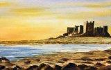 """Bamburgh, Northumberland (watercolour, 14"""" x 10"""")  NFS"""