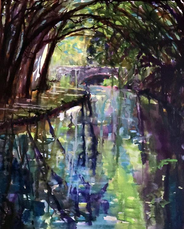 Beneath the Trees Mixed Media 65 x 55 cm £100 (unframed)