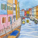 Burano, Watercolour  13 X 13 cm £50