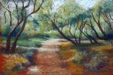 Belsay Hall gardens, framed pastels, £150