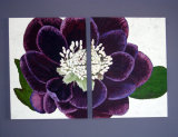 "Hellebore 20x16"" x 2, Acrylic on Canvas Board, NFS"