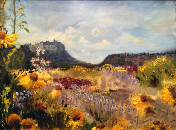 Holy Island from Castle Gardens Oil 45 x 35 £140