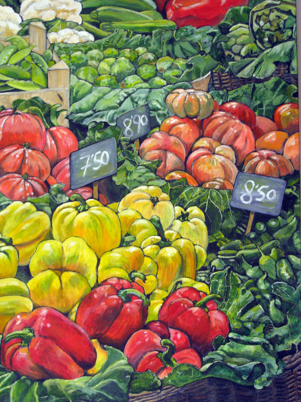 "La Boqueria 20x16"", Acrylic on Canvas Board, NFS"