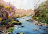 Lakeland Stream, Pastel, 40 X 30 cm